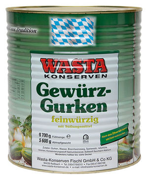Gherkins – a variety of sizes 10l